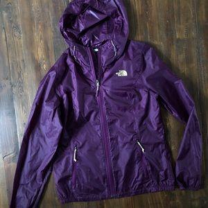 The North Face Dark Purple Rain Jacket Lightweight